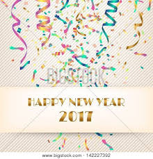 new years streamers happy new year 2017 fabric vector photo bigstock