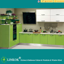 linkok furniture high glossy european style wooden kitchen