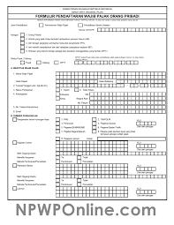 petunjuk membuat npwp online formulir pendaftaran npwp pribadi format excel dan pdf npwp online
