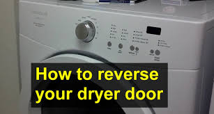 How To Hide Washer And Dryer by How To Reverse The Dryer Door Opening Direction On A Frigidaire