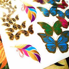 shnapign 24 style temporary golden blue green butterfly