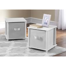 mainstays no tools single cube storage shelf side tables set of 2