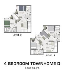 four bedroom floor plans for msu students student housing in east lansing