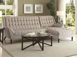natalia sectional sofa 503777 in dove grey fabric by coaster