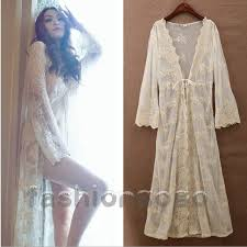 nightgowns for brides women bridal vintage princess lace robe dress bathrobes