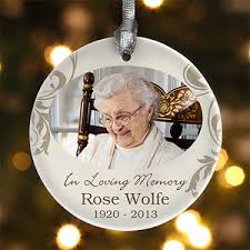 personalized remembrance ornaments in loving memory personalized memorial photo ornament