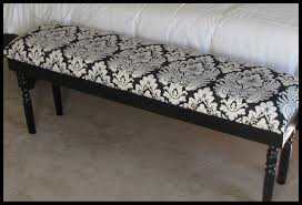lipstick and sawdust damask upholstered bench