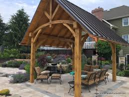 Metal Pergolas With Canopy by Wooden Pavilions Timber Frame Pavilions Homestead Structures