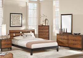 bedrrom gardenia honey 5 pc king platform bedroom bedroom sets light wood