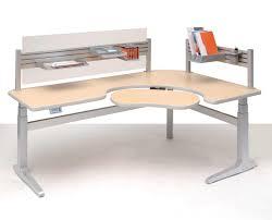 L Shaped Adjustable Height Desk by Modern Computer Desk Design Ideas Home Design