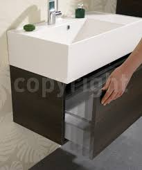 Wall Hung Sink Bauhaus Elite 700mm Single Drawer Steel Wall Hung Basin Unit