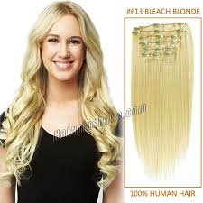 20 inch hair extensions inch 613 clip in remy human hair extensions 12pcs