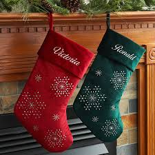 personalized velvet christmas stocking available in multiple