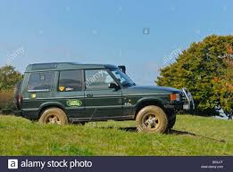 1997 land rover discovery off road 1990s land rover discovery 1 on a forest track in the hilly stock