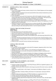 clinical manager resume clinical trial manager resume sles velvet
