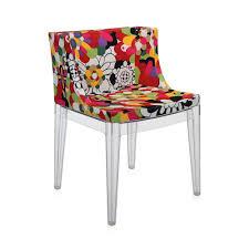 buy kartell mademoiselle u0027a la mode u0027 transparent chair vevey red