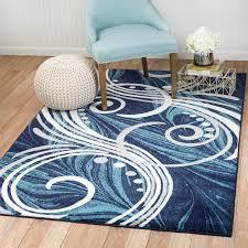 andover mills frieda blue area rug u0026 reviews wayfair