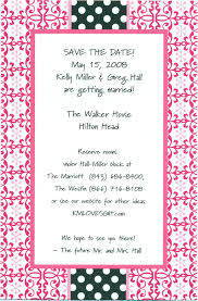 bridal lunch invitations photo pink pattern black polka dots image