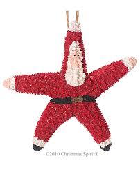 painted starfish santa ornaments santa ornaments