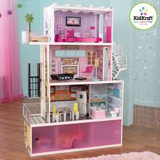 How To Make Dollhouse Furniture Out Of Household Items Amazon Com Kidkraft Beachfront Mansion With Furniture Toys U0026 Games
