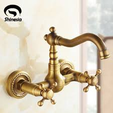 antique brass kitchen faucets us free shipping antique brass kitchen sink vessel faucet mixer
