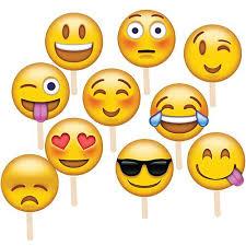 fan faces on a stick emoji fan faces shindigz