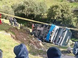 cerro de pasco noticias de cerro de pasco diario correo huancayo 20 muertos deja caída de bus a abismo en cerro de pasco