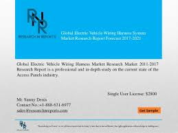 global electric vehicle wiring harness system market research report u2026