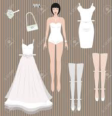 wedding dress up dress up paper doll wedding dress and accessories redy