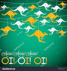 kangaroo ornament australia day card vector stock vector 358081178