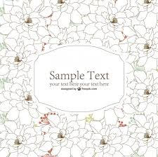 sketched flowers background vector free download