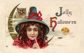 fun halloween owl and witch image the graphics fairy