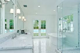 Elegant Powder Room Large Bathroom Mirror Design Ideas Round White Under Mount