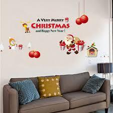 living room santa claus gift christmas font b decoration b font santa claus gift christmas font b decoration b font wall stickers window stickers decor for font