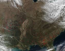 us map middle states fires dot the middle and eastern united states nasa