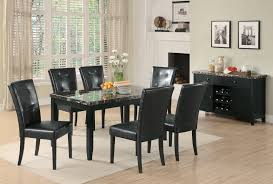 modern dining room designs for the super stylish contemporary home full size of dining room amazing black dining table polished granite top leather chair stained