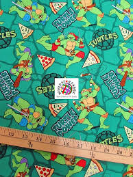 teenage mutant ninja turtles print cotton fabric