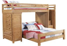 Creekside Taffy Twin Full Step Bunk Bed W Chest BunkLoft Beds - Full and twin bunk bed