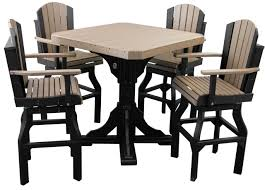 Outdoor Bar Table And Chairs Set Bar Table Set W Swivel Barchairs Polywood Dutch Haus Custom
