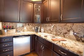 l shape kitchen design ideas using light brown granite kitchen