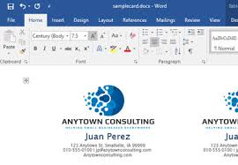 Text Your Business Card How To Make Your Own Business Cards In Word