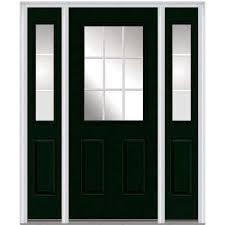 Patio Door With Sidelights Single Door With Sidelites Steel Doors Front Doors The Home