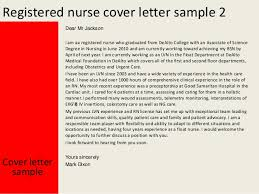 Sample Nursing Cover Letter For Resume by Registered Nurse Cover Letter Sample Resume Cover Letter Within