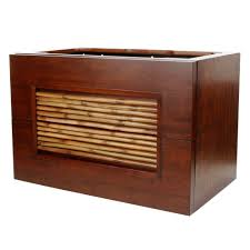 Bamboo Vanity Cabinets Bathroom by Ryvyr Bambu 36 In W X 21 1 2 In D X 24 In H Vanity Cabinet Only