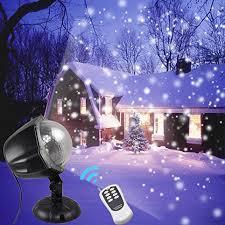 snowfall led lights waterproof garden lights remote