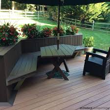 Deck Planters And Benches - 117 best built in deck seating benches planters images on