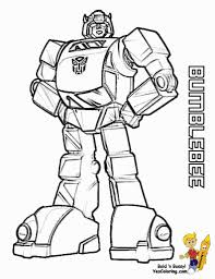 transformer robot in disguise bumblebee coloring pages az