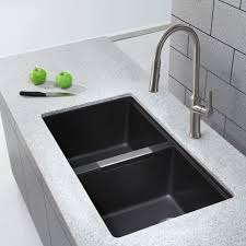 sinks and faucets kitchen sink countertop black stainless steel