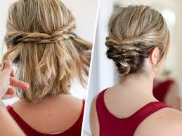 upsweep for medium length hair this quick messy updo for short hair is so cool messy updo updo