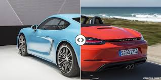 porsche cayman comparison 718 cayman vs 718 boxster